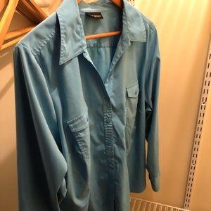 Lane Bryant blue button up shirt size 28